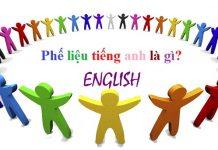 Phế liệu trong tiếng Anh